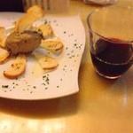 居酒屋ナホウ - 鶏レバームース  大好きな赤ワインとのコンビで