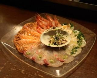 びすとろ UOKIN - 2013.2 海の幸のカルパッチョ(680円)