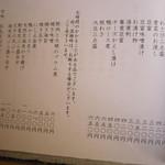 一東菴 - 肴・料理の品書き