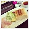 カフェライム - 料理写真:ーモーニングー 9:00-11:00 トースト 目玉焼き サラダ 飲み物  600yen