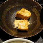 博多石焼 大阪屋 - 黄な粉餅ではありません。黄な粉のパンナコッタかな。