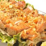 サンブラッシュ - 「当店イチオシ」 宮崎地鶏のガーリックソテー ¥1300