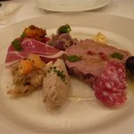 オステリア・バスティーユ - お肉の前菜盛り合わせ