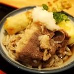 讃く - ぶっかけうどん+オプション(肉、ちくわの天ぷら、玉子の天ぷら)