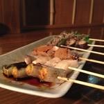 串焼き梅ちゃん - 本日の野菜串(6本/500円)