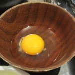 肉屋の正直な食堂 - 生卵アップ