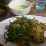 17217332 - 鶏とピーマンのオイスターソース炒め定食