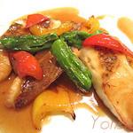 日本料理レストラン RAKU - 兵庫産活鯛のグリル・特製うにソース