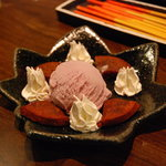 どなんち - うむくじ天と紅芋のアイス