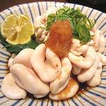 日本料理レストラン RAKU - 北海道産たらの白子(お造り)