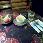 17223949 - サラダとスープ