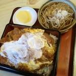 17226715 - かつ丼上(ミニ蕎麦付)\900