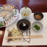 日間賀観光ホテル - 2013.02 まずはてっさになまこ酢、、小鉢は、、、忘れちゃった:汗