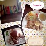 17228845 - 和風チキンのオーブン焼き&ティラミス♡(´・ω・`)♡