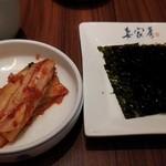 17230440 - ズンドウブチゲ定食のキムチ、海苔