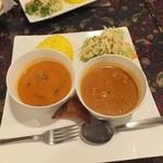 17234840 - 甘口野菜カレーとチキンカレー