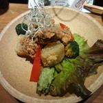 17241221 - 淡路鶏と風呂ふき吹き大根の竜田揚げ(750円)