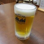 武蔵ラーメン - 生ビール中(450円)