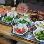 京都・烟河 - サラダコーナー