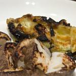 ワッシーズダイニングスープル - 季節野菜の炭火焼き:茄子と蓮根