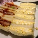 みやざわ - 二度目のかつサンドと玉子サンド