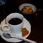 手打ちそば 藪 - これもサービスのコーヒー