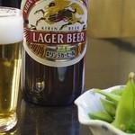 17257953 - 瓶ビール枝豆付き¥600-