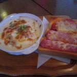 1726771 - ハムチーズトースト&グラタン