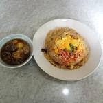 たかさご - カニチャーハン+スープ