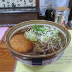 ごんべい - コロッケ蕎麦 300円