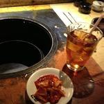 17269480 - ランチのキムチ、ウーロン茶