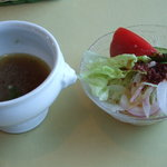 キッチン彩 - 1050円セットのサラダ&スープ