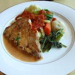 キッチン彩 - サービスランチ\1050自然豚のソテーハーブ入りクリーミーソース