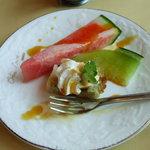 キッチン彩 - ガッカリだったセットに付いていたデザート