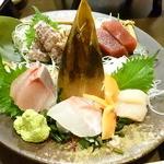 小樽旬菜 華かぐら - お刺身五品盛り