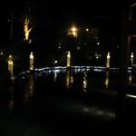 17273351 - お店の前の池のイルミネーションです