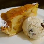 17274849 - アップルパイ+ラムレーズンアイスクリーム