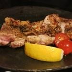 花咲 - 大山地鶏の黒胡椒焼き