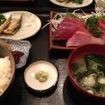 ゆーとぴあ - 日替りの刺身定食です。1280円。