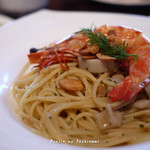 イル バンカーレ - レンコンと天然海老のパスタ アンチョビ風味