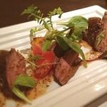 接方来 - 京野菜とローストビーフの盛り合わせ。ここの野菜料理は最高!
