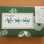 吉田屋羊羹本舗 - 包み箱に入った5本入り水ようかん(650円)