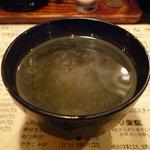 とりまさ - ☆鶏スープ…葱が切れちゃったみたいでネギ無しですぅ☆