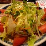 とりまさ - ☆とりささみのサラダのササミが切れちゃったみたいでシンプルサラダに☆