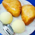 17280547 - あげパンの 練乳がけ with バニラアイス