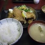ときわ亭 - 若鶏からあげ定食600円