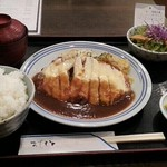 手づくり洋食屋 手塚 - ポークカツレツチーズ乗せ850円