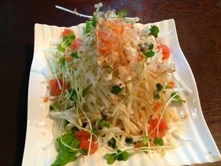 空 - ひまらや大根のサラダ。ボリュームたっぷりです。