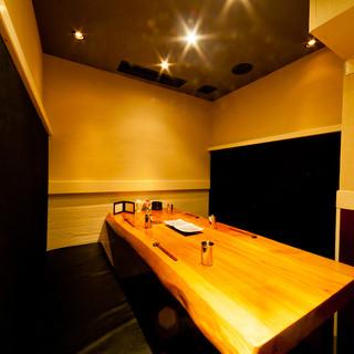 ≪人気に付きお早目のご予約を≫6名様までの完全個室のお席。