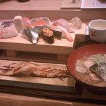 Gyoshouan - 【2013/2】厳選寿司とあら汁のランチ \2000